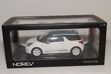 - NOREV 1/18 CITROEN DS3 WHITE WITH LIGHT BLUE ROOF MINT BOXED