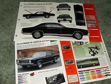 1970 CHEVY MONTE CARLO SS 454 SPEC INFO POSTER BROCHURE SS454 70