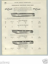 1940- 50's PAPER AD Water Master Lightweight Wood Boats Fishing Duck Hunting +