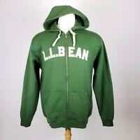 LL Bean Mens Spell Out Sweatshirt Medium Tall (runs big)Green Hoodie Full Zip R1