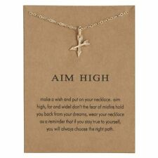 Aim high Card Arrows Cross Lovely Women Gold Pendant Necklace Chain Jewelry New
