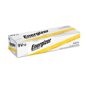 12 Energizer Industrial 9 Volt EN22 (9V) Alkaline Batteries Exp.12/2025