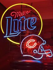 Miller light Chicago Bears neon helmet sign 35 x 20