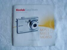 Kodak Digital Camera Getting Started Guide M753 M853 MD853 User's Manual ONLY