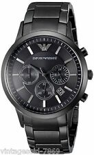IMPORTED EMPORIO ARMANI AR2453 SUPER LUXURY FULL BLACK CHRONOGRAPH MENS WATCH