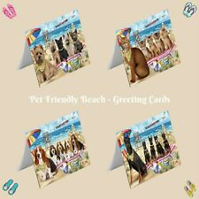 Pet Friendly Beach Greeting Cards with Dog cat pet Photos,invitation card