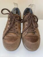 Ecco biom natural motion mens brown leather lace up trainers causal shoes 8