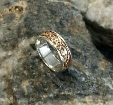 Official Welsh Clogau Silver & Rose Gold Annwyl Ring £190 off! SIZE N