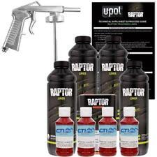 U-POL Raptor Blood Red Urethane Spray-On Truck Bed Liner W/Free Spray Gun, 4 L