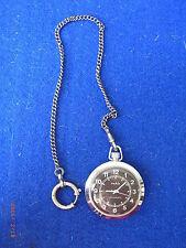 Mechanische Taschenuhren (Handaufzug) aus Edelstahl mit 12-Stunden-Zifferblatt