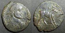 Double Maiorina JULIEN II LE PHILOSOPHE (355-363 après J-C) Taureau -  Lyon RARE