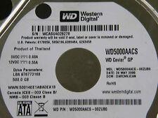 500 gb de Western Digital WD 5000 AACS - 00zub0/darcnvjcan/2060-701444-004 Rev a