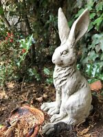 Hare stone garden ornament rabbit long big ears cute detailed sitting