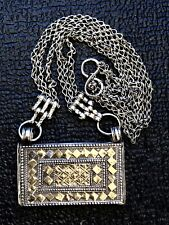 very beautiful Omani silver gilded hirz amulet pendant; Oman, no Yemen