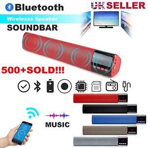 Bluetooth Wireless TV Soundbar Speaker Home Theater Sound Bar HiFi Subwoofer