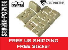 Strike Industries TAN Keymod covers Handstop kmod Hand stop 11 piece kmod polyme