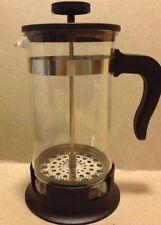 IKEA Upphetta French Press Coffee Tea Maker Camping Travel 34 Oz Glass Steel