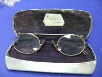 victorian edwardian gold framed spectacles eye glasses marked gn or ng with bird