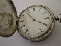 Baume & Co Silver hunter pocket watch