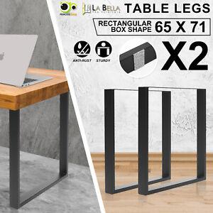 2X Coffee Dining Table Legs Bench Box DIY Steel Metal Industrial Vintage BLACK