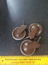 Vintage hostess Tea Trolley Wheels x 3