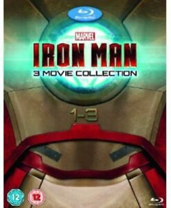 Iron Man 1-3 Complete Collection [Blu-ray] [DVD][Region 2]