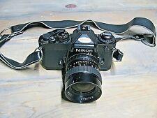 Nikon Fe 35mm Slr Film Camera, 35mm 1:2.8 Kaligar Lense