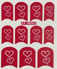 Nail Art Decal Stencil Stickers Hearts XF.M002