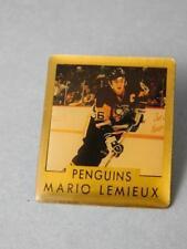 MARIO LEMEIUX NHL PITTSBURGH PENGUINS 1991 PIN  VINTAGE FAN SOUVENIR BUTTON