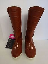 ICON Motorsports Women's Children's Sacred Tall Brown Leather Boots Size 5 EU35