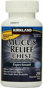 Kirkland Mucus Relief Chest Guaifenesin 400mg Expectorant 200 Tablets 07/2023