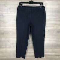 "Ann Taylor LOFT Women's Size 6 ""Julie"" Slim Ankle Fit Pants Navy Blue Cotton"