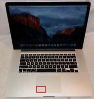 """Apple 2013  Pro 15"""" Retina 2GHz i7 8GB RAM 512GB SSD A1398 El Capitan ISSUE TRAC"""