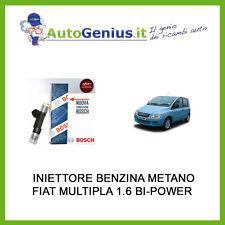 INIETTORE BOSCH FIAT MULTIPLA 1.6 NATURAL BI-POWER BENZINA METANO DAL 2001>2005