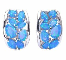 Markenlose Ohrringe mit Opal Edelsteine