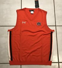 NWT UNDER ARMOUR Auburn Tigers Coach's Sideline Vest Wool Sweater Men's XL