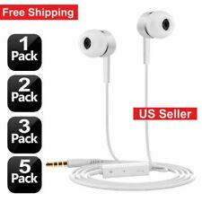 3.5mm Headset In-Ear Earphone Stereo Earbuds Headphone w/ Microphone for Samsung