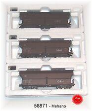 Mehano 58871 - C.C. Tres partes Set Vagón tolva Modelo Falns 121