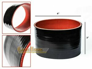 """4"""" Silicone Hose/Intake/Intercooler Pipe Straight Coupler BLACK For Daewoo"""