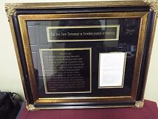 Museum Quality Framed Bible Page - First Swedish NT Printed in America