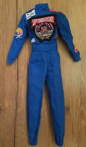 Barbie Doll Clothes 50th Anniversary Nascar Blue Jumper Coveralls Outfit Vintage