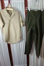 USMC Uniform- S- Pants & Short-Sleeve Shirt- VG-VIETNAM ERA-Cistagnoli,R.D.-SALE