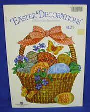 Vtg American Greetings Easter Book 5 Punch Out Decorations Egg Bunny Floral #1
