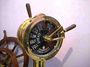 "Nautical Brass Ship's Engine Order Telegraph Maritime Home Decorative 43 """