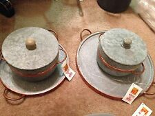 Maos De Minas stone and copper cookware/ bakeware set 6 pc RARE VHTF
