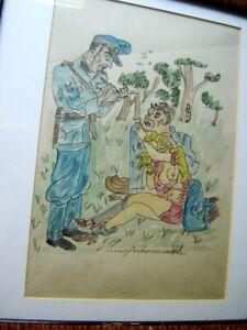 Humorous Erotic W/C Maja BEREZOWSKA (1898-1978) Polish Listed