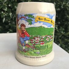 West Germany German Beer Mug Stein Lamer Winkel Bayer Wald Der Osser Riese