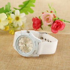 Ladies Gemius Army Quartz Silver Faced Luminous White Band Wrist Watch.