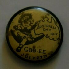 Australia Day Map (July 27, 1917) , Color Pin Back, Button Badge, Clear
