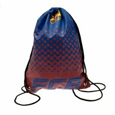 FC Barcelona Gymbag Nylon Drawstring Swimming Kit Bag Burgundy School PE Bag